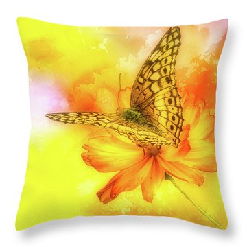 Daisy For A Butterfly Throw Pillow