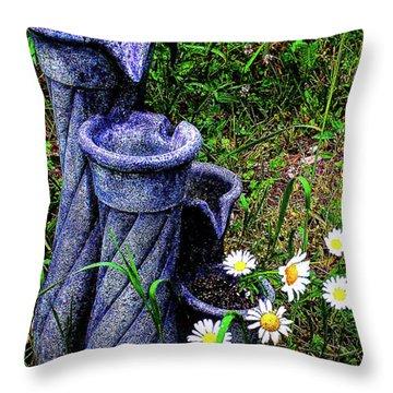 Daisy Fountain Throw Pillow