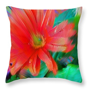 Daisy Fun Throw Pillow