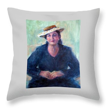 Daisy Hat Throw Pillow by Jill Musser