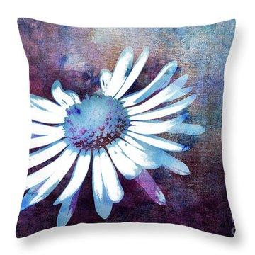 Throw Pillow featuring the mixed media Daisy by Jutta Maria Pusl