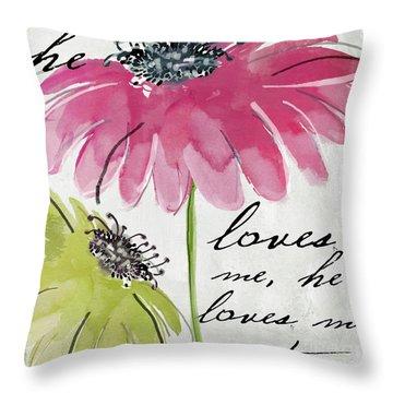Daisy Morning II Throw Pillow