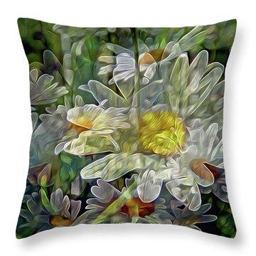 Daisy Mystique 8 Throw Pillow by Lynda Lehmann