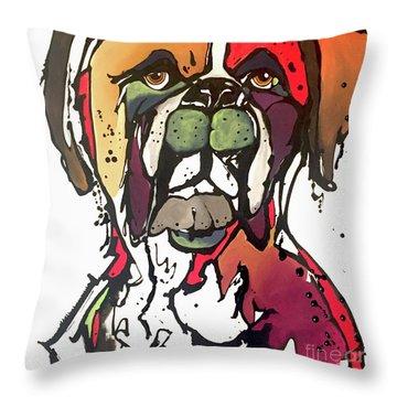 Daisy Throw Pillow by Nicole Gaitan