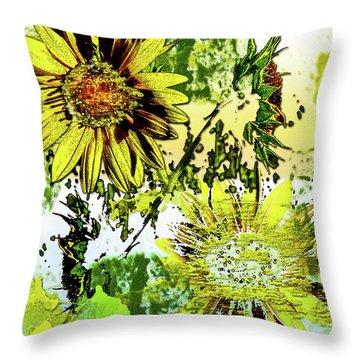 Sunflower On Water Throw Pillow