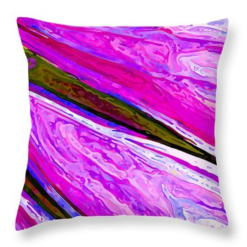 Daisy Petal Abstract 1 Throw Pillow by ABeautifulSky Photography