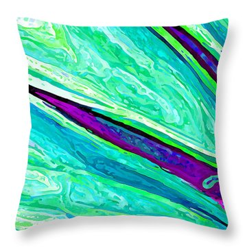Daisy Petal Abstract 2 Throw Pillow by ABeautifulSky Photography