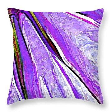 Daisy Petal Abstract In Grape Throw Pillow