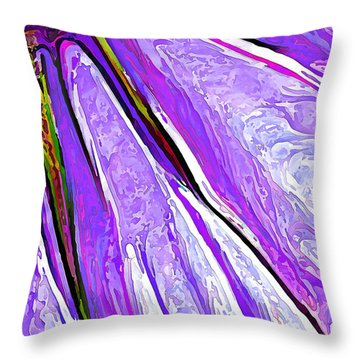 Daisy Petal Abstract In Grape Throw Pillow by ABeautifulSky Photography