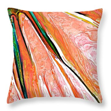 Daisy Petal Abstract In Salmon Throw Pillow by ABeautifulSky Photography