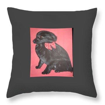 Daisy Scared Little Dog Throw Pillow