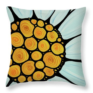 Daisy Throw Pillow by Sharon Cummings