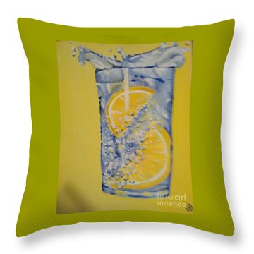 Throw Pillow featuring the painting Dakota Flint Prayer by Saundra Johnson
