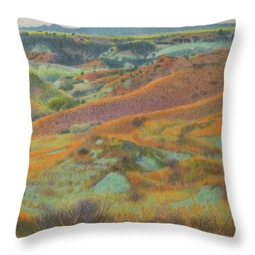 Dakota October Throw Pillow
