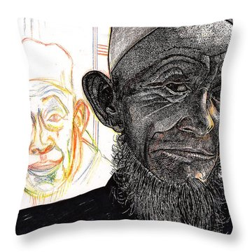 Dalai Happily Happened Upon Throw Pillow by Al Goldfarb