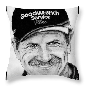 Dale Earnhardt Sr In 2001 Throw Pillow by J McCombie