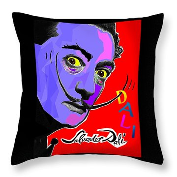Dali Dali Throw Pillow by Hartmut Jager