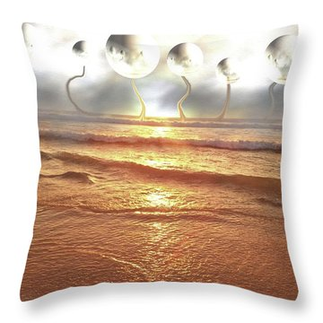 Dali, Here In Brazil Throw Pillow