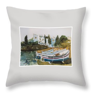 Dali House From Portlligat Throw Pillow by Manuela Constantin