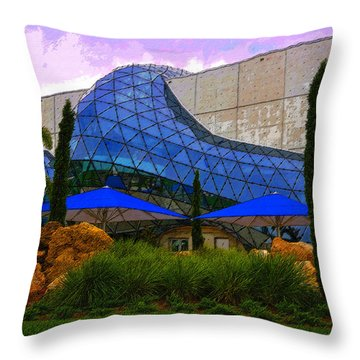 Dali Museum Throw Pillow by David Lee Thompson