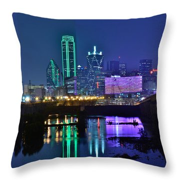 Dallas After The Rain Throw Pillow