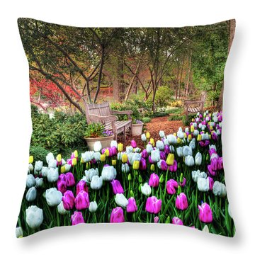 Dallas Arboretum Throw Pillow by Tamyra Ayles
