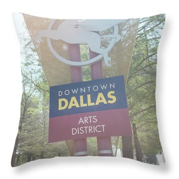 Dallas Arts District Throw Pillow