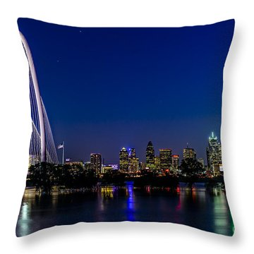 Dallas At Night Throw Pillow