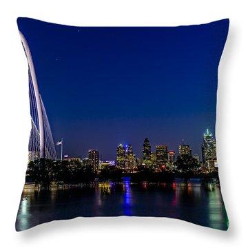 Dallas At Night Throw Pillow by Tamyra Ayles