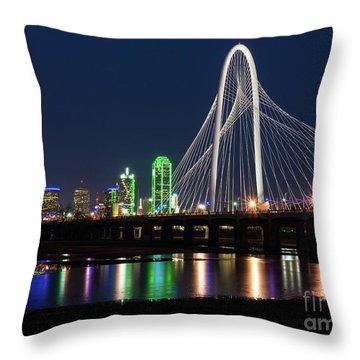 Dallas Bridge View Throw Pillow