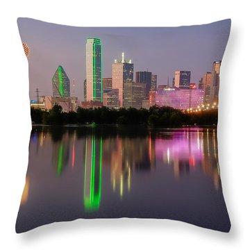 Dallas City Reflection Throw Pillow
