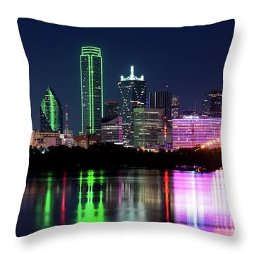 Dallas Colorful Night 52716 Throw Pillow