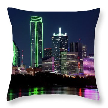 Dallas Colors Pano 2015 Throw Pillow