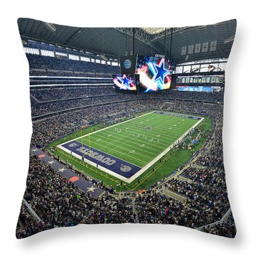 Dallas Cowboys Att Stadium Throw Pillow