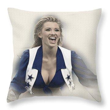 Dallas Cowboys Cheerleader Katy Marie Performs Throw Pillow