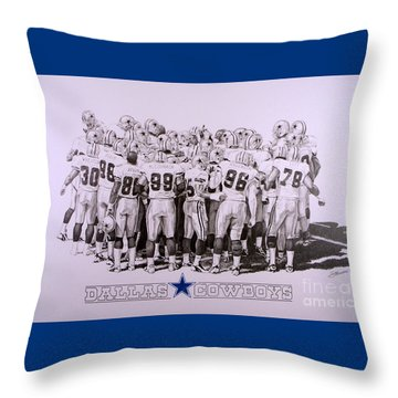Dallas Cowboys Throw Pillow by Shawn Stallings