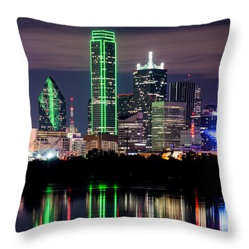 Dallas Cowboys Star Skyline Throw Pillow