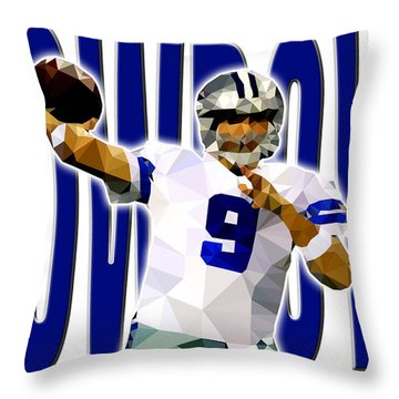 Throw Pillow featuring the digital art Dallas Cowboys by Stephen Younts