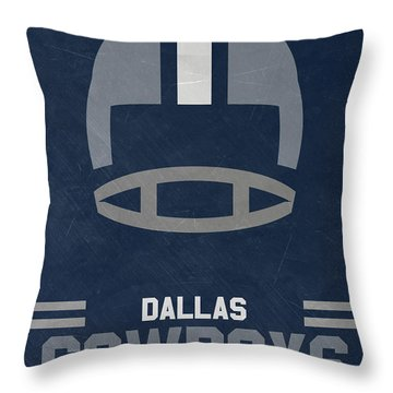 Dallas Cowboys Vintage Art Throw Pillow