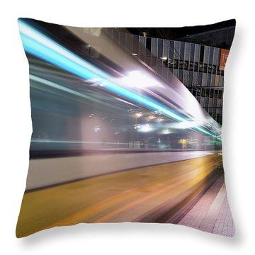 Dallas Dart Motion 012618 Throw Pillow