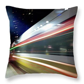 Dallas Dart Train 012518 Throw Pillow