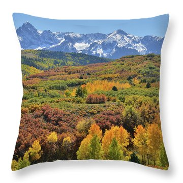 Throw Pillow featuring the photograph Dallas Divide Afternoon by Ray Mathis