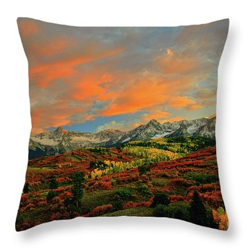 Dallas Divide Sunset - 2 Throw Pillow