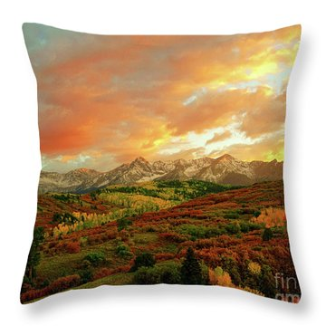 Dallas Divide Sunset Throw Pillow