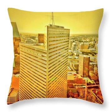 Dallas Gold Throw Pillow by Douglas Barnard