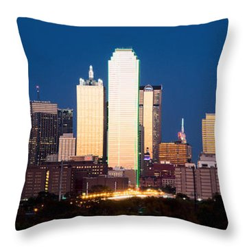 Dallas Golden Pano Throw Pillow
