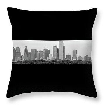 Throw Pillow featuring the photograph Dallas In Black And White by Jonathan Davison