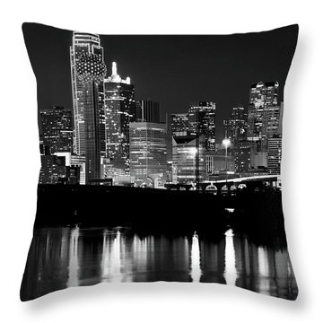 Dallas Nights Bw 6816 Throw Pillow