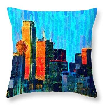 Dallas Skyline 60 - Pa Throw Pillow