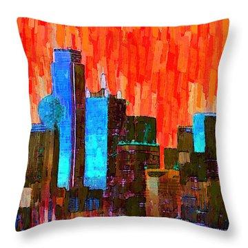 Dallas Skyline 61 - Pa Throw Pillow